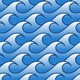 Stylized sea waves. Seamless pattern Stock Photo