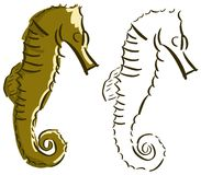 Stylized seahorse isolated Stock Photography