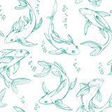 Stylized seamless fishes. Royalty Free Stock Photo