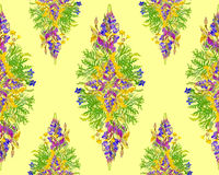 Stylized seamless floral pattern Royalty Free Stock Images