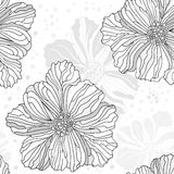 Stylized seamless flower pattern Stock Photography