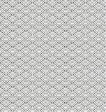 Stylized seamless pattern made of black line arc Royalty Free Stock Photography
