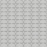 Stylized seamless pattern made of black line arc  Royalty Free Stock Photos