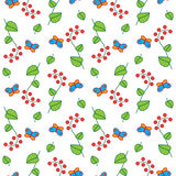 Stylized seamless pattern of the nature Royalty Free Stock Image