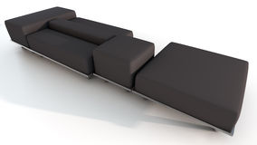 Stylized Sectional Lounge Sofa Royalty Free Stock Photography