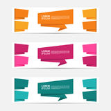 Stylized Set Business Design Banner collection. Template, usable for your company banner Royalty Free Stock Photo