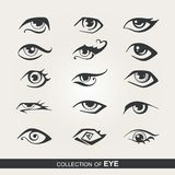 Stylized set of eyes Royalty Free Stock Image