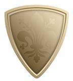 Stylized shield illustration Royalty Free Stock Photography