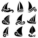 The stylized ship, boat Stock Photo