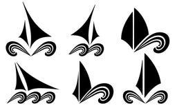 The stylized ship, boat Stock Image