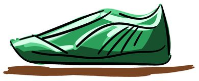 Stylized shoe  in green tones Royalty Free Stock Images