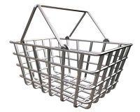 Stylized Shopping Basket Stock Images