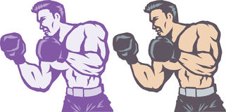 Stylized Side Boxer Royalty Free Stock Photos