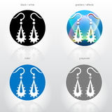 Stylized sign of dangle earrings Royalty Free Stock Image