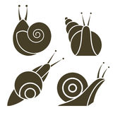 Stylized silhouette of a snail Royalty Free Stock Images