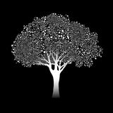Stylized silver tree Royalty Free Stock Images