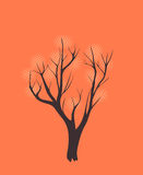 Stylized single tree Stock Photography