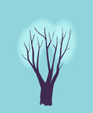 Stylized single tree Stock Images