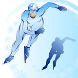 Stylized skater with a silhouette_2 Royalty Free Stock Photo
