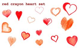 Stylized sketch hearts. Set of hand draw and sketch stylized hearts on white background Stock Photography