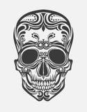 A stylized skull