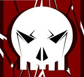 Stylized skull in black and white on background royalty free stock images