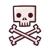 Stylized skull with crossbones Royalty Free Stock Photos