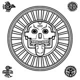 Stylized skull. Pagan god of death. Stock Photos