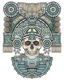 Stylized skull. Pagan god of death. Stock Images