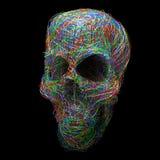 Stylized skull Stock Image