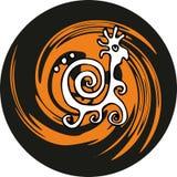 Stylized snail Stock Image