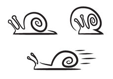 Stylized snails. Stock Photography