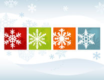Stylized Snowflake Winter Background Stock Image