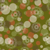 Stylized snowflakes dots Stock Photo