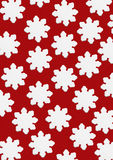 Stylized Snowflakes With Red Background Royalty Free Stock Image