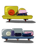 Stylized sofa. Two different abstract stylized sofa Royalty Free Stock Image