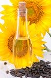 stylized solros för droppe olja Royaltyfri Foto