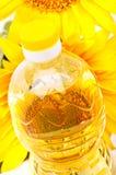 stylized solros för droppe olja Fotografering för Bildbyråer