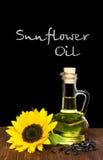 stylized solros för droppe olja Royaltyfri Fotografi