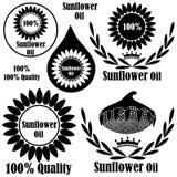 stylized solros för droppe olja Royaltyfria Foton