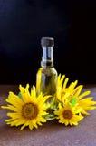 stylized solros för droppe olja Royaltyfri Bild