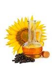 stylized solros för droppe olja Arkivfoto
