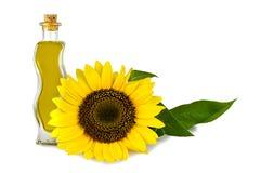stylized solros för droppe olja Royaltyfria Bilder