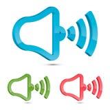Stylized Speaker Symbol, Vector Illustration Royalty Free Stock Image