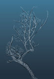 Stylized spotted tree on dark background Royalty Free Stock Photography
