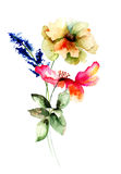 Stylized spring flowers, Royalty Free Stock Photos