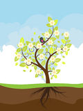 Stylized Spring Tree Stock Photo