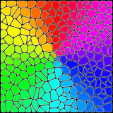 Stylized Stained Glass. Abstract Background. Stylized Colorful Stained Glass Stock Image