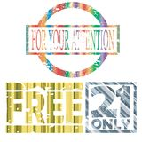 Stylized stamp collection Royalty Free Stock Image
