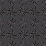 Stylized star anise seamless pattern. Dark gray background. Royalty Free Stock Image
